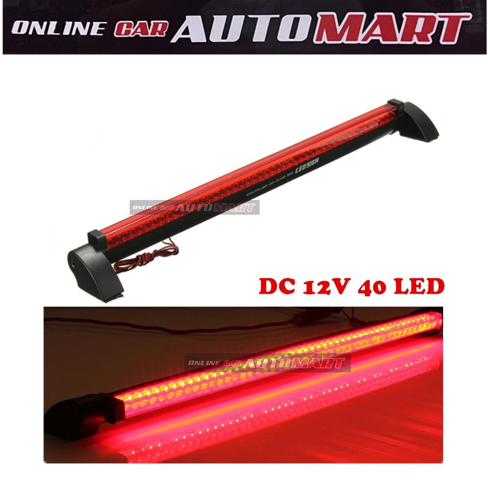 Red Car Auto Third 3RD Brake Light 12V 40 LED High Mount Stop Rear Tail Warning Light Lamp