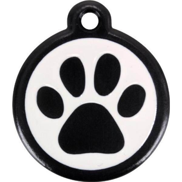 Red Dingo QR Black Pet Tag, Pawprint, Black, - intl