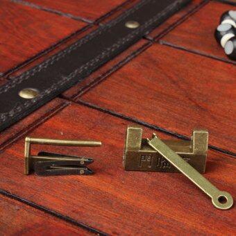 Retro Chinese Old Style Lock Padlock Bronzy Vintage Antique Locks - 4
