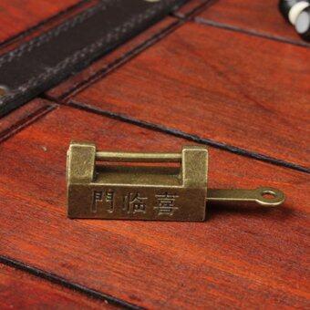 Retro Chinese Old Style Lock Padlock Bronzy Vintage Antique Locks - 2