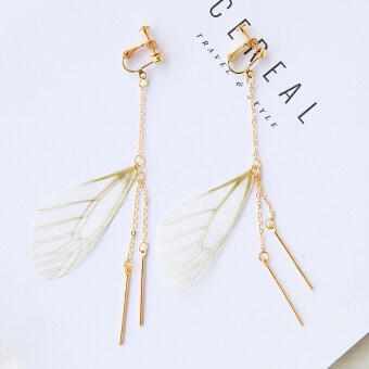 Harga Retro handmade Butterfly long paragraph tassel earrings