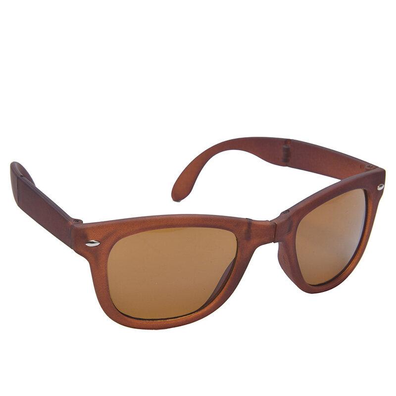 Detail Gambar Retro Pria Wanita Kacamata Hitam Lipat Kacamata Olahraga  Perlindungan UV Matahari Kacamata Coklat-Internasional Terbaru b2bd394995