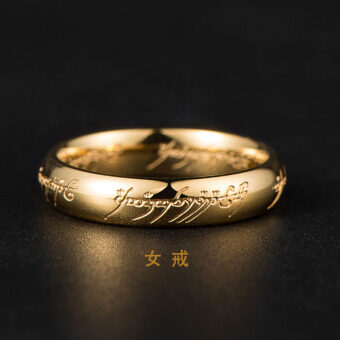 Ring King Male Female titanium steel domineering Tide on the ringcouple ring