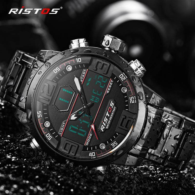 RISTOS  Fashion Watch Men G Style Waterproof Sports Military Watches Shock Mens Luxury Analog Quartz LED Digital Multifunction Watch 9338 Malaysia