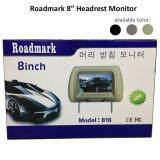 "Broz Roadmark 8"" Headrest Monitor TFT LED Monitor With Universal Mounting Pillow With Zipper Grey"