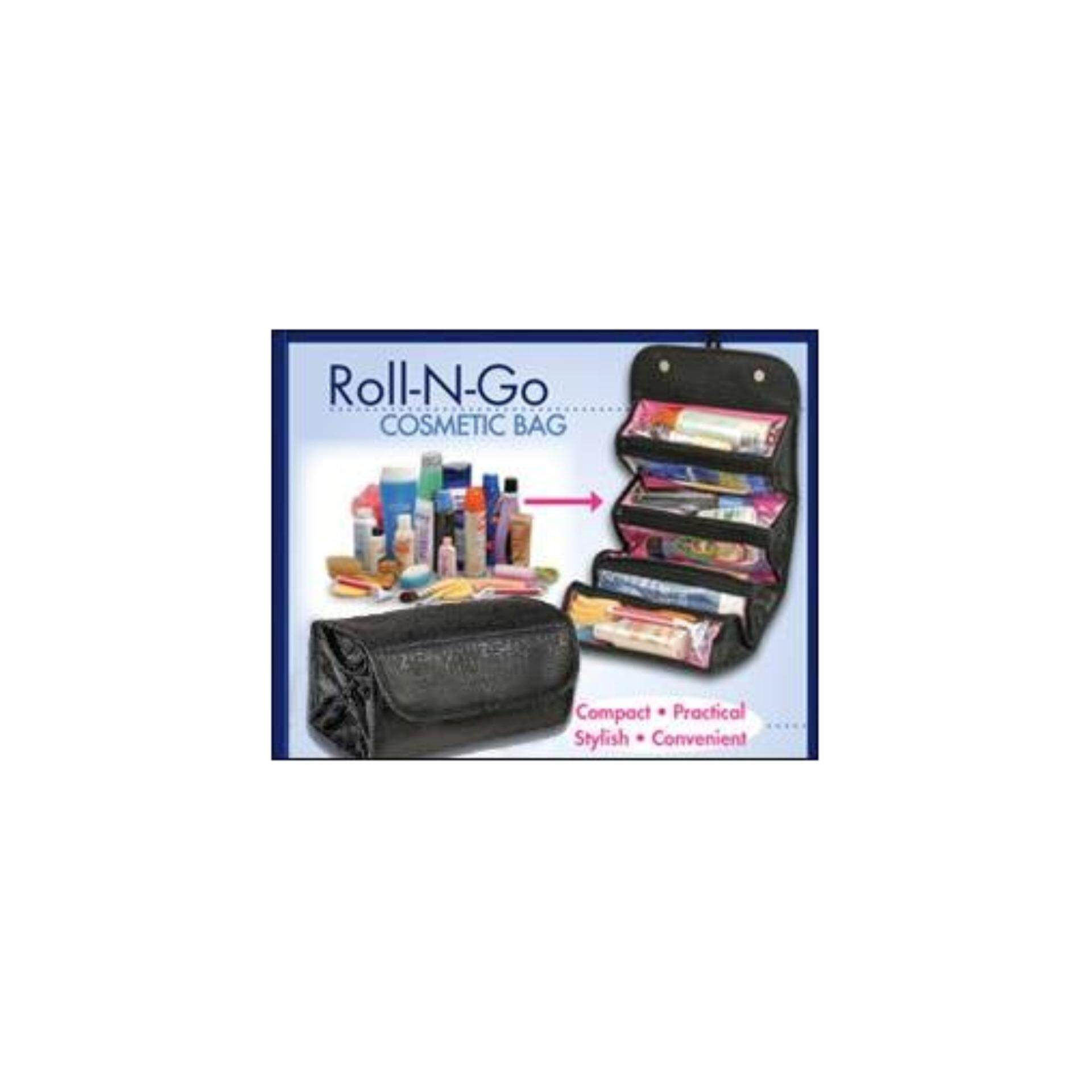 Roll N Go Travel Buddy Cosmetic/Toiletries Bag - Black