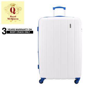 "Harga Royal McQueen 24"" Polypropylene 4 Wheels Spinner Hard Case Luggage - QTH 6907 White"