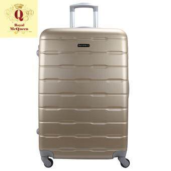 Harga Royal McQueen Hard Case 4 Wheels Spinner Light Weight 24 Luggage - QTH 6910 (GOLD)""