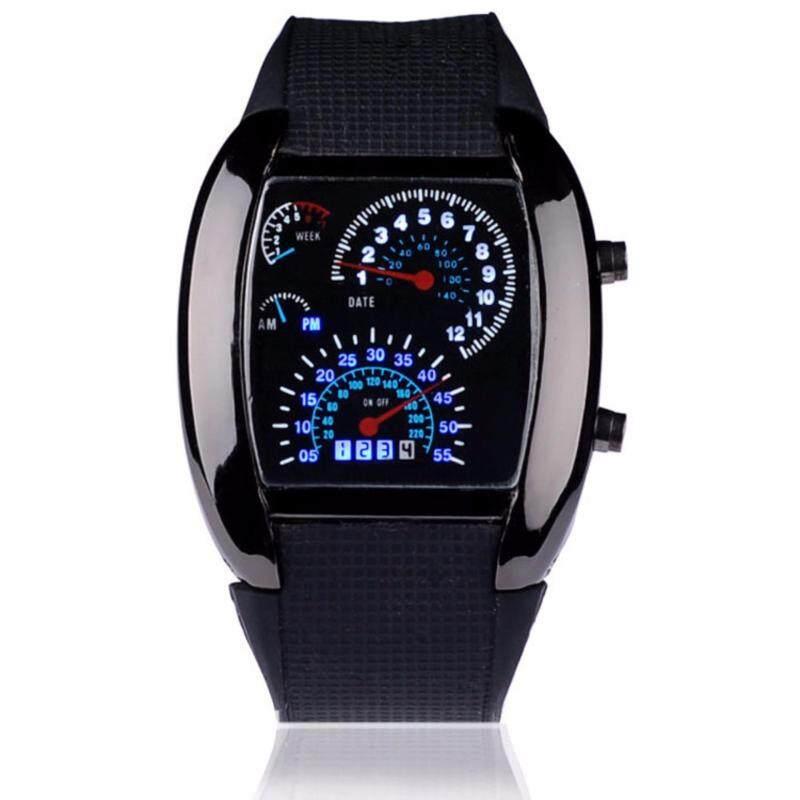 RPM Turbo LED Racing Car Speedometer Watch- Black Malaysia