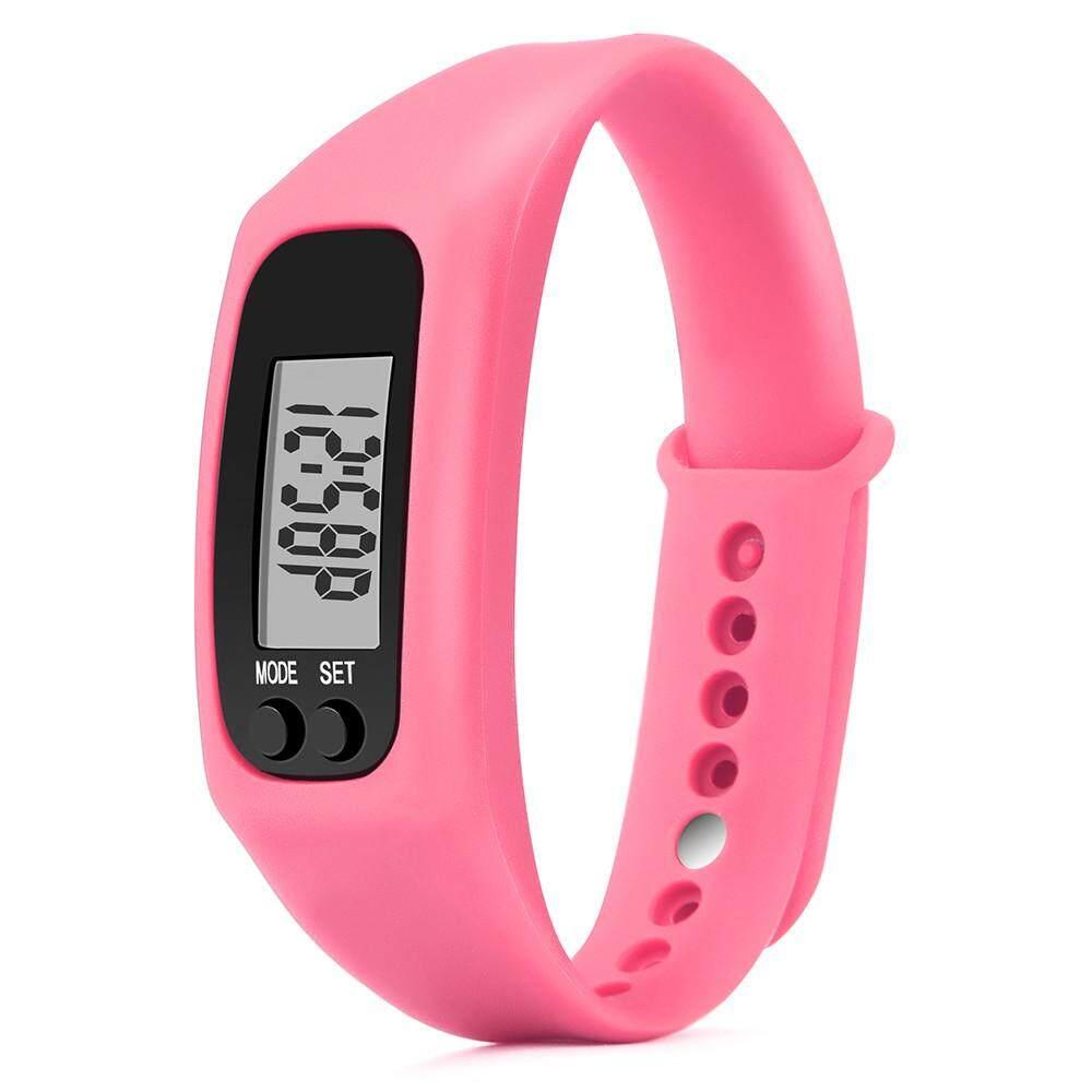 Run Langkah Jam Tangan Gelang Alat Pengukur Langkah Kalori Penghitung Digital LCD Berjalan Jarak-Internasional