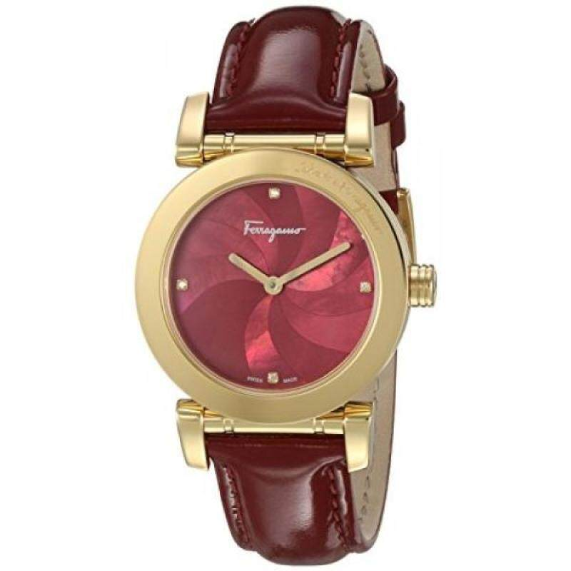 Salvatore Ferragamo Womens LADY Quartz Stainless Steel and Leather Casual Watch, Color:Red (Model: FP1780016) Malaysia