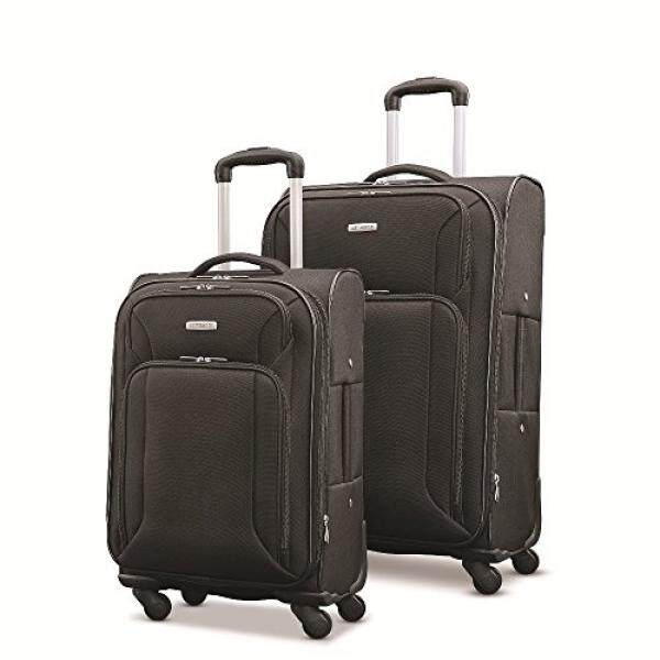 Samsonite Victory 2 Piece Nested Softside Set , Black, Only at Amazon - intl