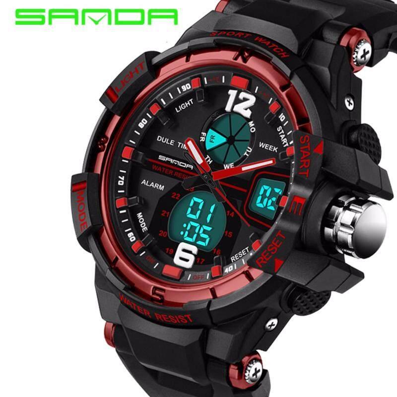 SANDA 289 Waterproof Outdoor Multifunctional Sports Mens Quality Shockproof Digital Watch (Red) Malaysia