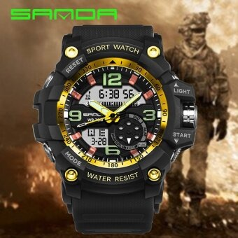 Harga SANDA Brand Watch 759 Mens Watches Top luxury G Style Waterproof Sports Watches Shock Digital Electronics Wrist Watches Men Relogios Masculinos