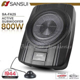 "SANSUI SA-FA25 10"" 800W Active Sub Compact Enclosed Car Subwoofer Bass"