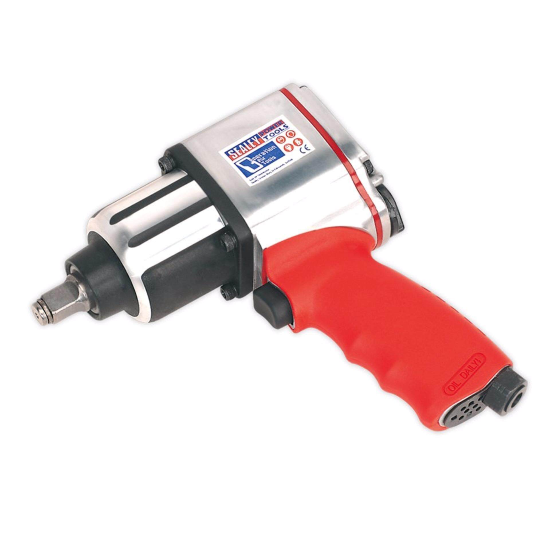 """Sealey Air Impact Wrench 1/2"""" Sq Drive Twin Hammer"""