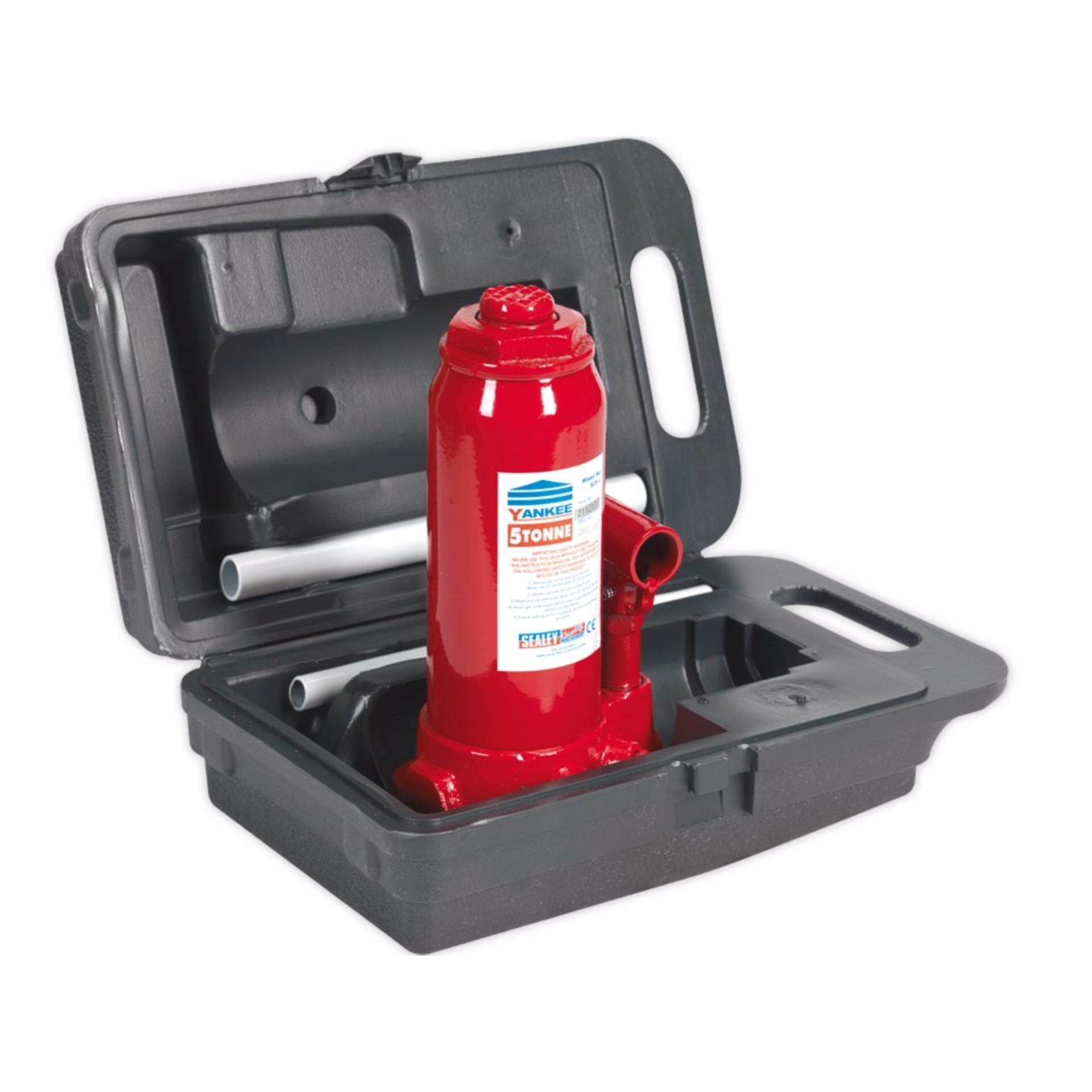 (Clearance) Sealey Bottle Jack 5tonne with Carry-Case [Showroom Unit]