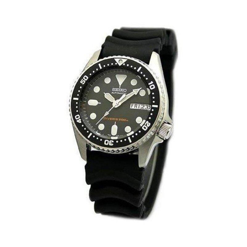 Seiko SKX013K1 Black Dial Analog Automatic Day and Date Black Rubber Strap Watch Malaysia