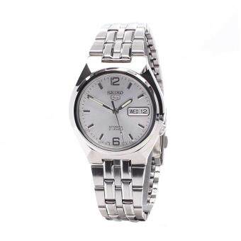 Seiko Watch 5 Automatic Silver Stainless-Steel Case Stainless-Steel Bracelet Mens Japan NWT + Warranty SNKL59K1