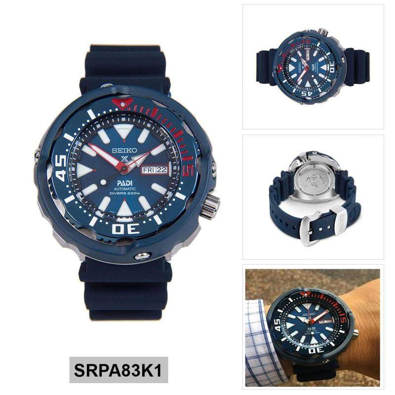 Seiko Watch Prospex PADI Divers Blue Stainless-Steel Case Silicone Strap Mens NWT + Warranty SRPA83K1 Malaysia