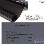 Broz Silver Max Blue 50% Solar Control Window Film Tint Film For Car Auto SUV Van Window Office Tint 300cm x 50cm