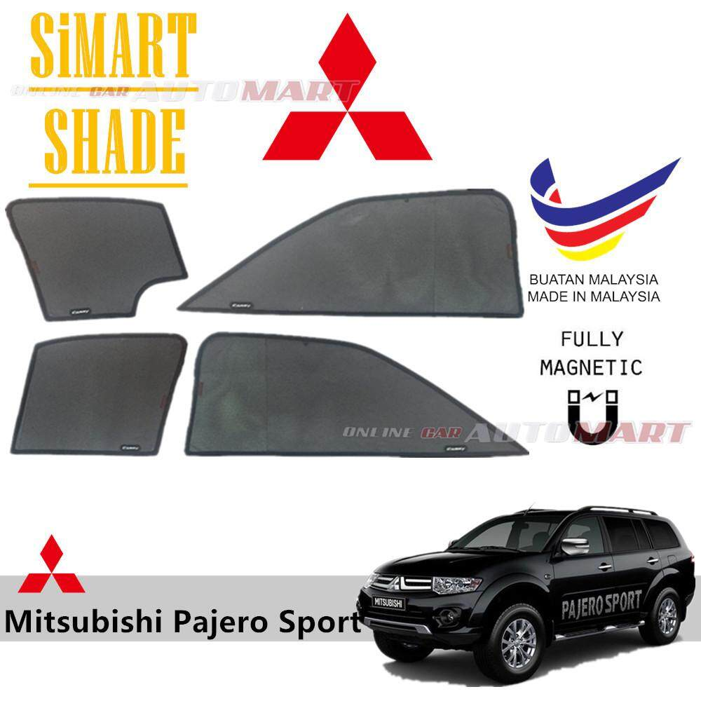 Simart Shade Magnetic Custom Fit OEM Sunshade For Mitsubishi Pajero Sport  Yr 2008 2016 6pcs (Made In Malaysia)