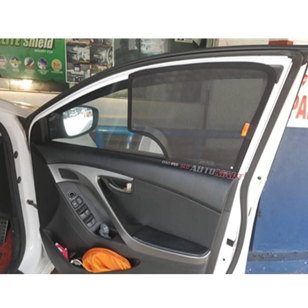 Simart Shade Magnetic Custom Fit OEM Sunshade For Mitsubishi Triton 4th Gen Yr 2005-2016 4pcs (Made In Malaysia)