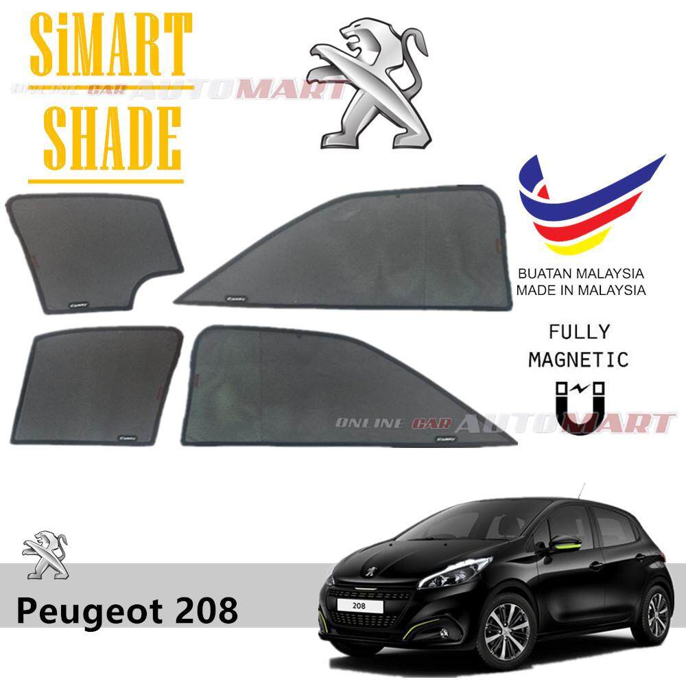 Simart Shade Magnetic Custom Fit OEM Sunshade For Peugeot 208 Yr 2012 4pcs (Made In Malaysia)
