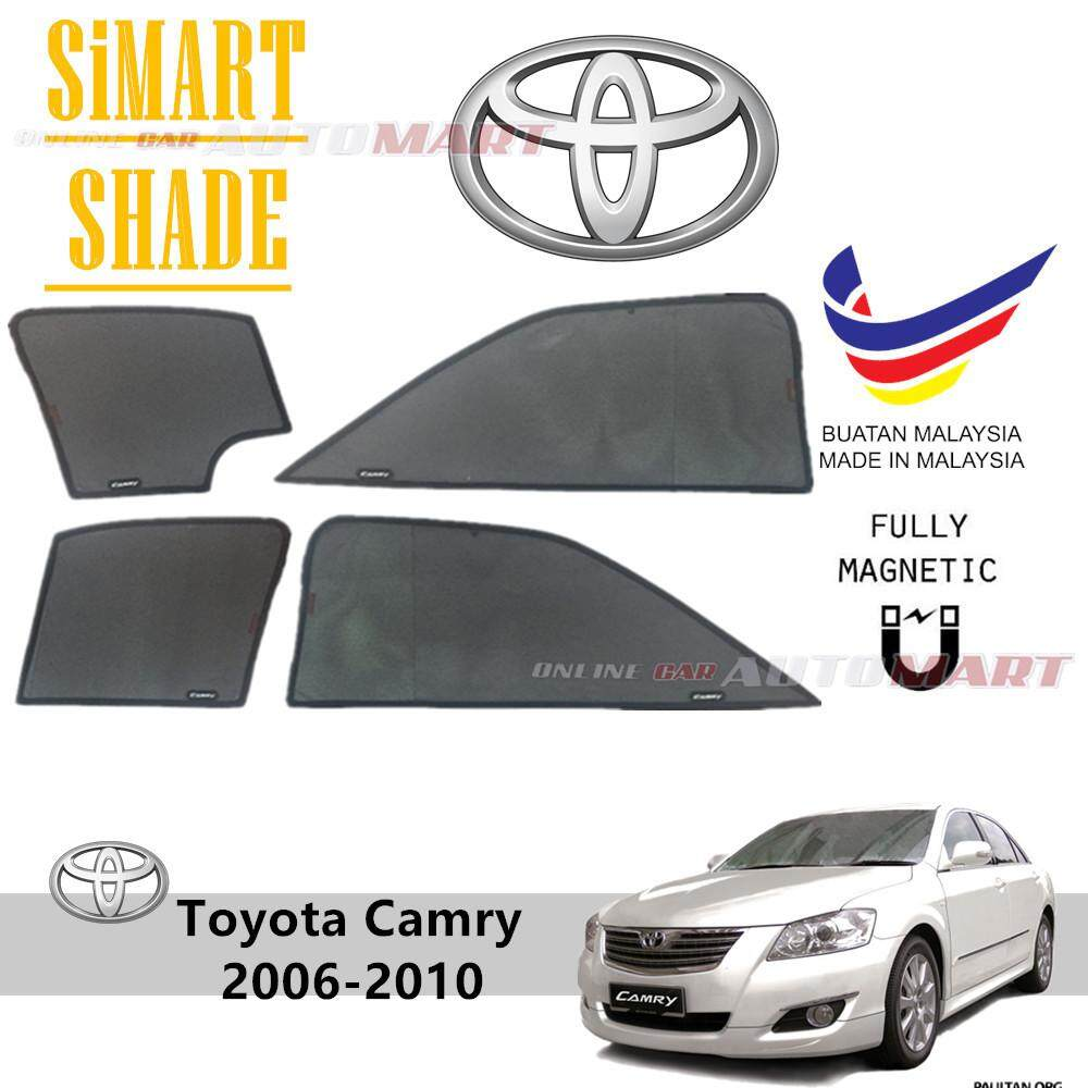 Simart Shade Magnetic Custom Fit OEM Sunshade For Toyota Camry 6th Gen Yr  2007-2012 4pcs (Made In Malaysia) ab0d545d774