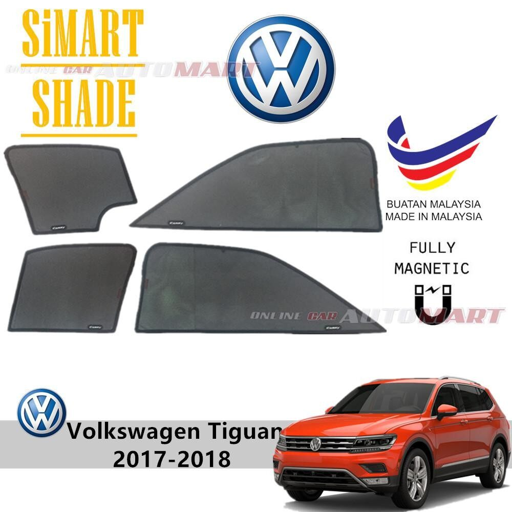 Simart Shade Magnetic Custom Fit OEM Sunshade Volkswagen Tiguan Yr 2017 For 4pcs (Made In Malaysia)