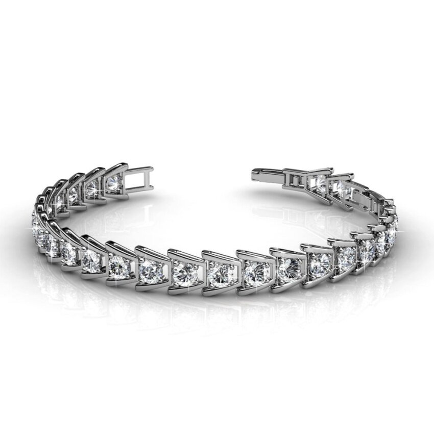 Her Jewellery Simply Bracelet embellished with Crystals from Swarovski