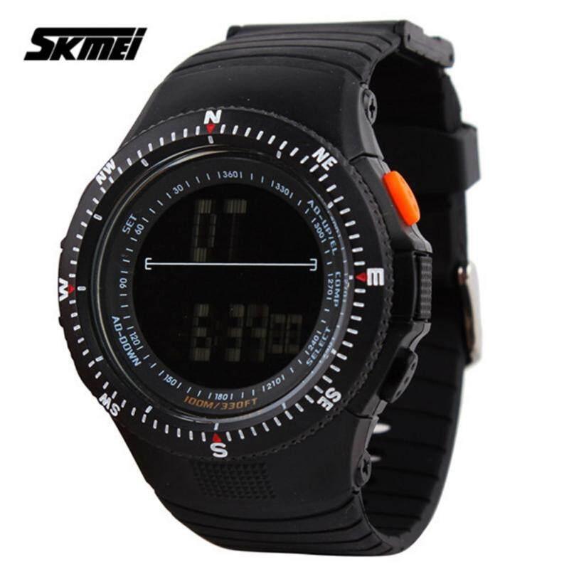 SKMEI 0989 Mens Military LED Digital Watch (Black) Malaysia