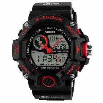 Harga Skmei 1029 Sport Watches Men Waterproof 50M Men Wristwatch Red