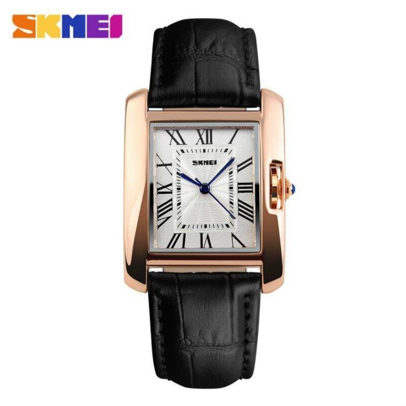 SKMEI 1085 Womens Fashion Luxury Retro Quartz Watches Analog Display Waterproof Women Casual Dress Wrist Watch - Black Malaysia