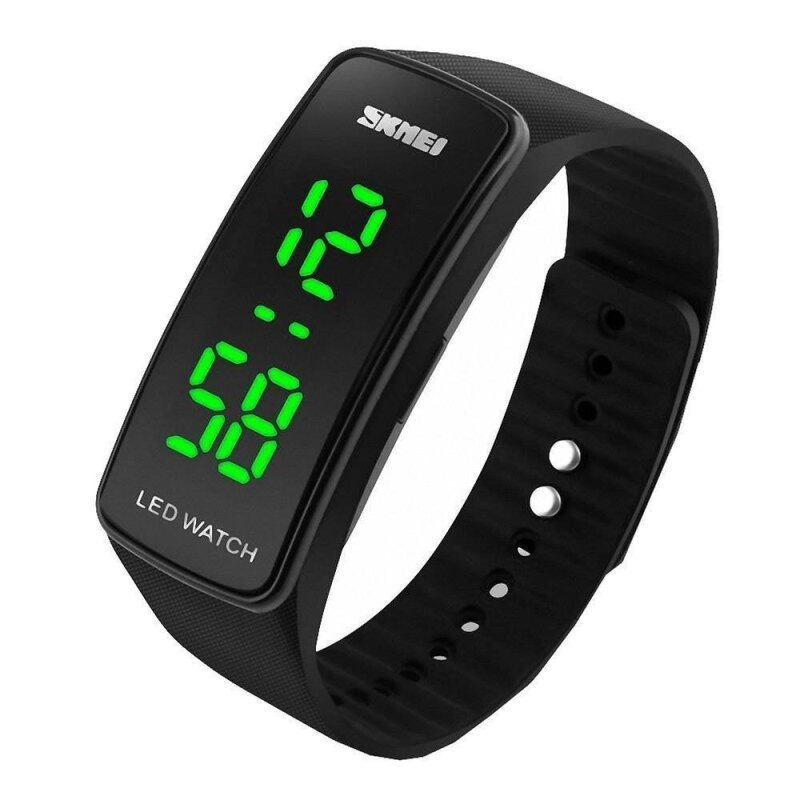 Skmei 1119 LED Sports Watch with Date Function Rubber Band Black Malaysia