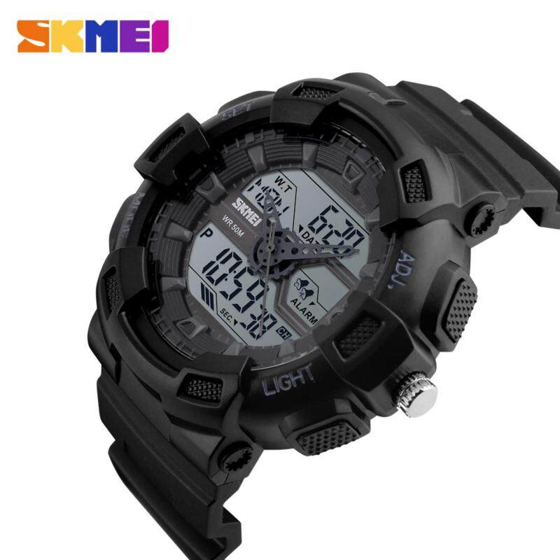 SKMEI 1189 Chronograph Hybrid Dual Time Man Outdoor Sports Watch [Ready Stock/5 Colors] Malaysia