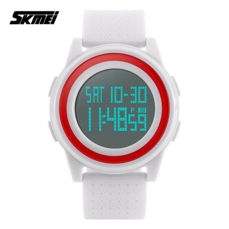 SKMEI 1206 Thin Fashion Simple Dial LED Digital Watch (White) Malaysia