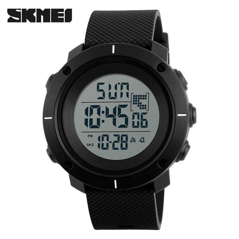 SKMEI 1218 Outdoor Man Sports Military 50M Waterproof Compass Watches Hiking Digital LED Electronic Watch - Black Malaysia