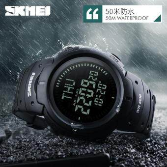 SKMEI 1231 SKMEI 1231 Outdoor Man Sports Compass Watches Hiking Digital LED Electronic Watch - Black