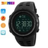 SKMEI 1250 Men Smart Watch Bluetooth Pedometer Calories Chronograph Fashion Outdoor Sport  Backlight Waterproof Man Wristwatches Black