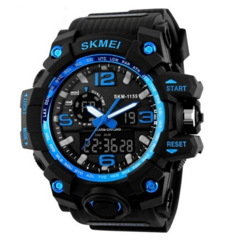 SKMEI Brand Dual Time Men Sport Quartz Watches Auto Date Malaysia