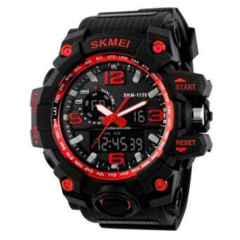 Harga SKMEI Brand Dual Time Men Sport Quartz Watches Auto Date