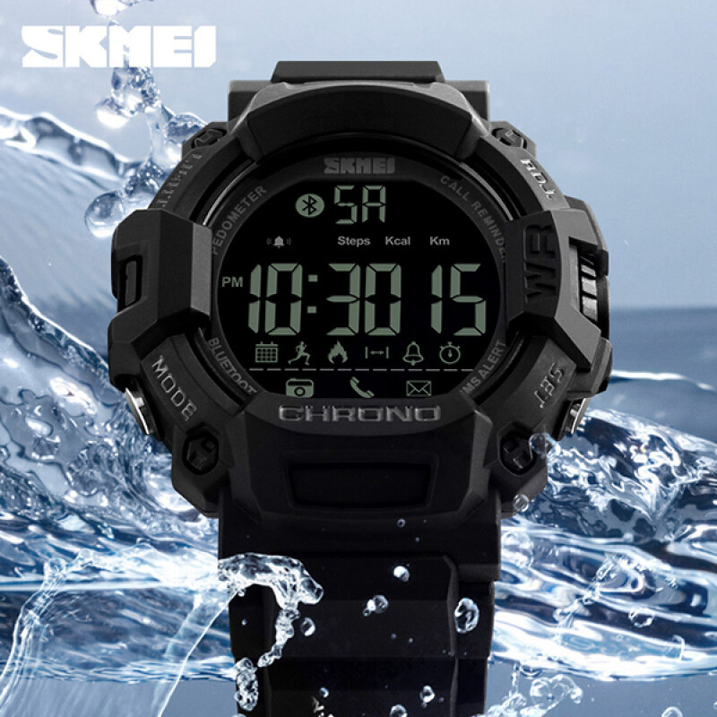 SKMEI Brand Fashion Smart Android Men Pedometer Sports Digital Watches Remote Camera Call Reminder LED Hybrid Smartwatch 1249 Malaysia