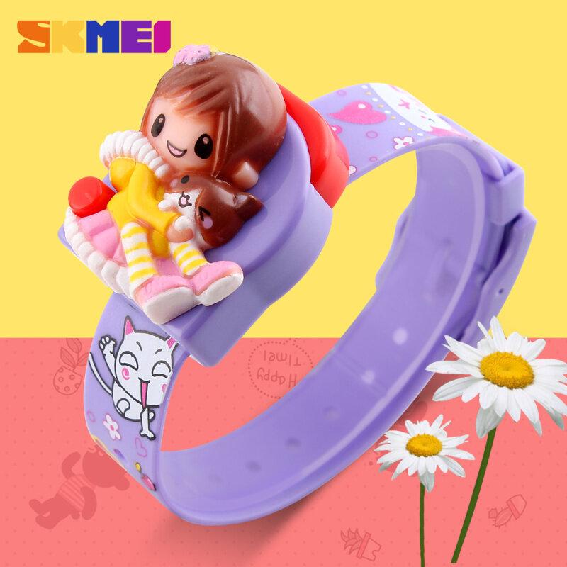 SKMEI Brand Watch Girls Children Digital Wristwatches Fashion Strap Time Display Lady Clocks Kids Cartoon Dial Watches Relogio Relojes1240 - intl bán chạy