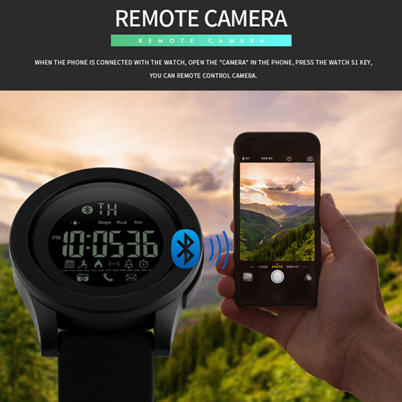 SKMEI Brand Watch Men Smart Watch Calorie Pedometer Multi-Functions Bluetooth Watches Distance Remote Camera Sport SmartWatch Relogios 1255 Malaysia