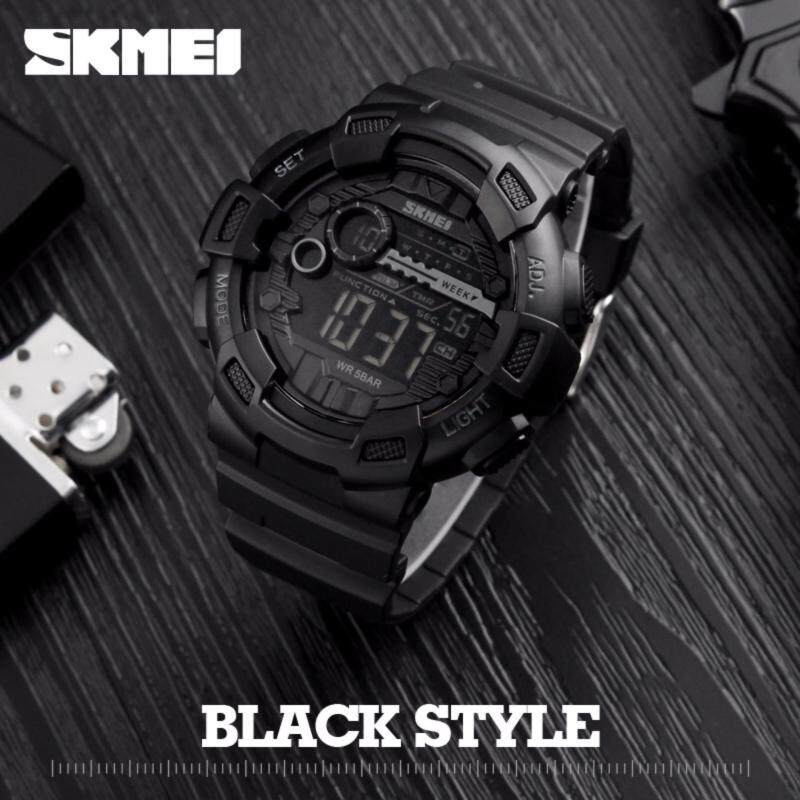 SKMEI Men Digital Wristwatches LED Display Multiple Time Zone 50M Waterproof Clock Relogio Masculino Outdoor Sports Watches 1243 Malaysia