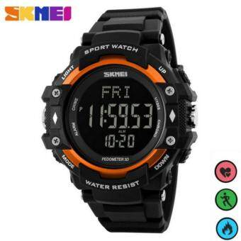 Harga SKMEI Pedometer Heart Rate Monitor Waterproof Sports Watches Calories Counter Fitness Tracker Digital Watches Men