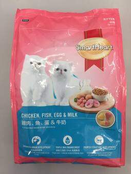 Harga SMARTHEART KITTEN FOOD CHICKEN, FISH, EGG and MILK 1.1KG - Free 1 Pouch 85g
