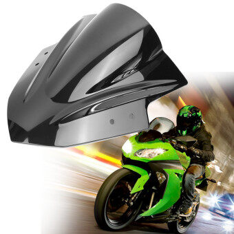 Harga Smoke Black ABS Windshield Windscreen For Kawasaki Ninja 300 EX3002013-2015