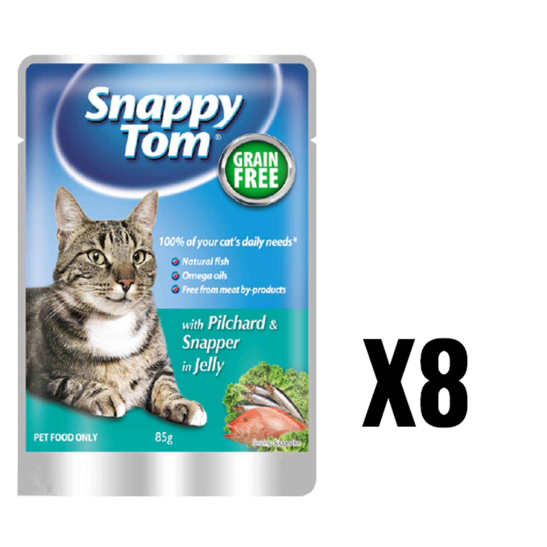 Snappy Tom Pilchard & Snapper In Jelly 85G